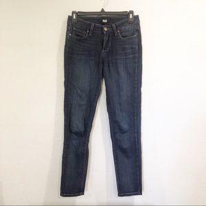 PAIGE | Dark Wash Verdugo Crop Jeans